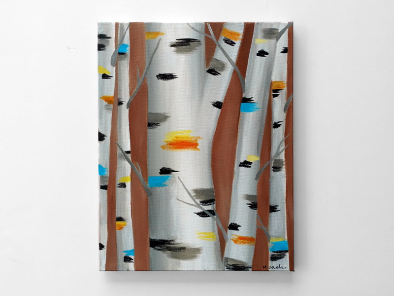 Colorful Birch Trees