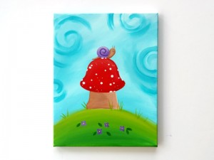 Snail on a Toadstool