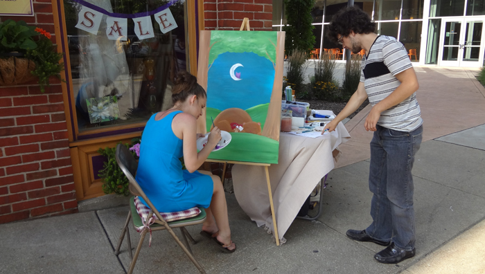 Painting at Glass Growers Gallery for Celebrate Erie