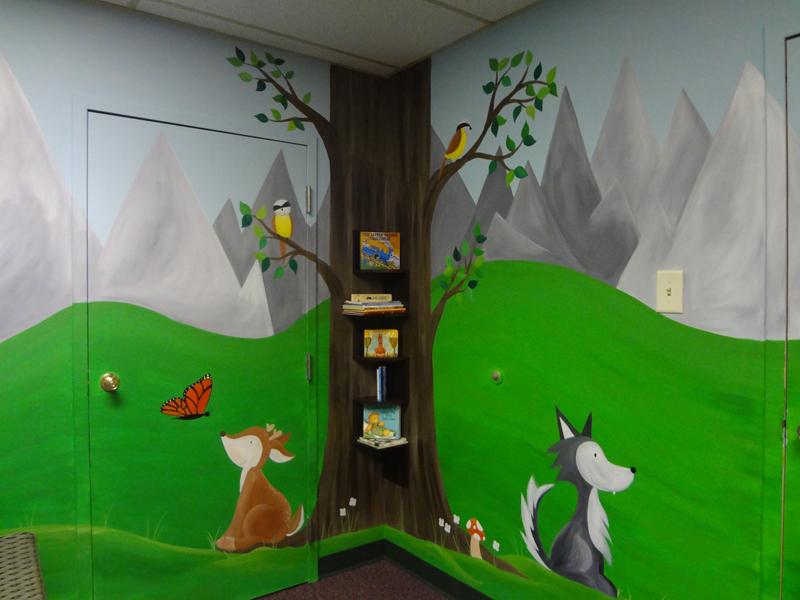 Cabin In The Woods Wall Mural Wallpaper Deer And Cabin