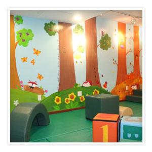 Four seasons trees forest animal mural erie pa mural artist for 4 seasons mural
