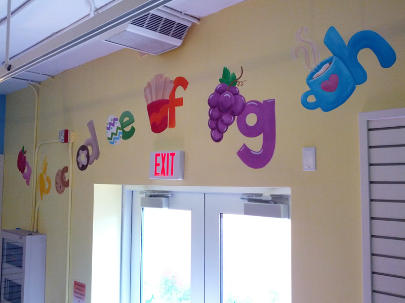 Snack Alphabet Mural ❀ Click for Photos