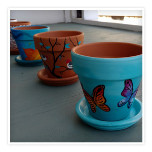 square-flower-pots