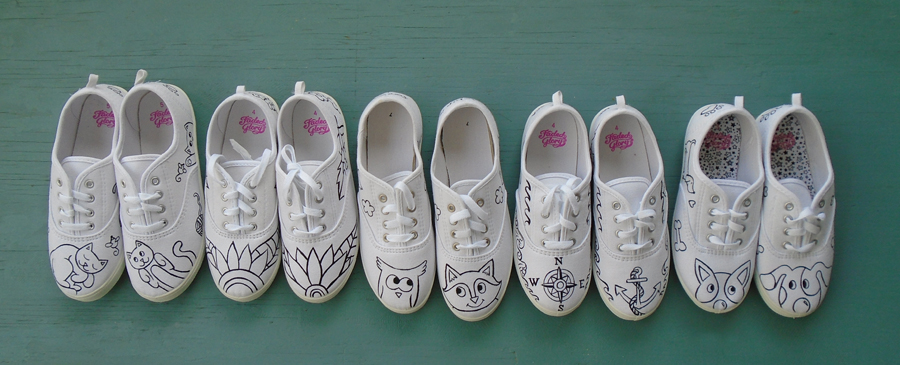 Paint-Your-Own Sneakers – Painting